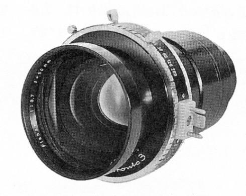 Objectif f/0.7 Karl Zeiss