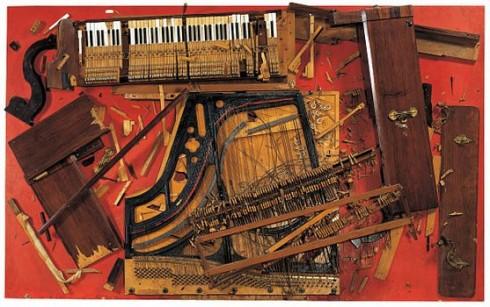 Chopin's Waterloo, débris de piano (colère) par Arman