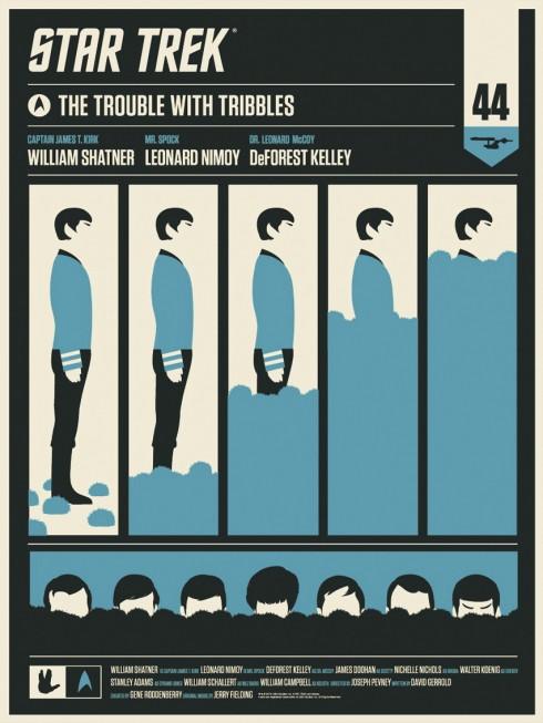 Olly Moss - Tribbles Spock