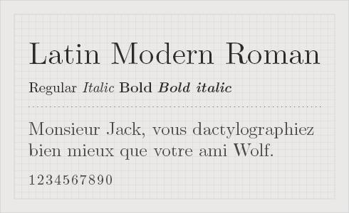 Latin Modern Roman