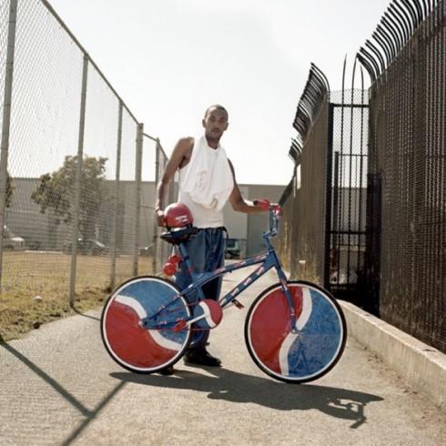 Portrait d'un bike scraper à Oakland (CA), Matthew Reamer