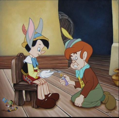 Pinocchio trash