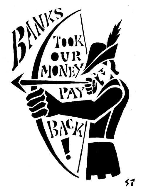 Banks Took Our Money by Seth Tobocman