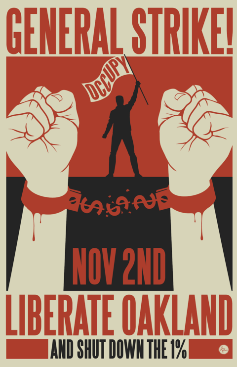 Oakland General Strike by Rich Black